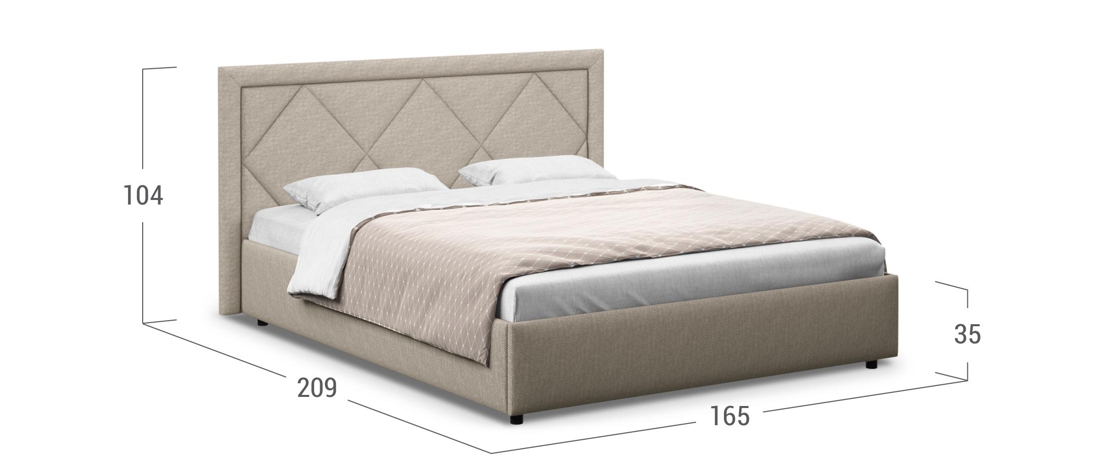Кровать двуспальная Доменика 140х200 Модель 1203